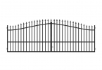 PILEG 12 - double swing gate 3,5m, anthracite colour